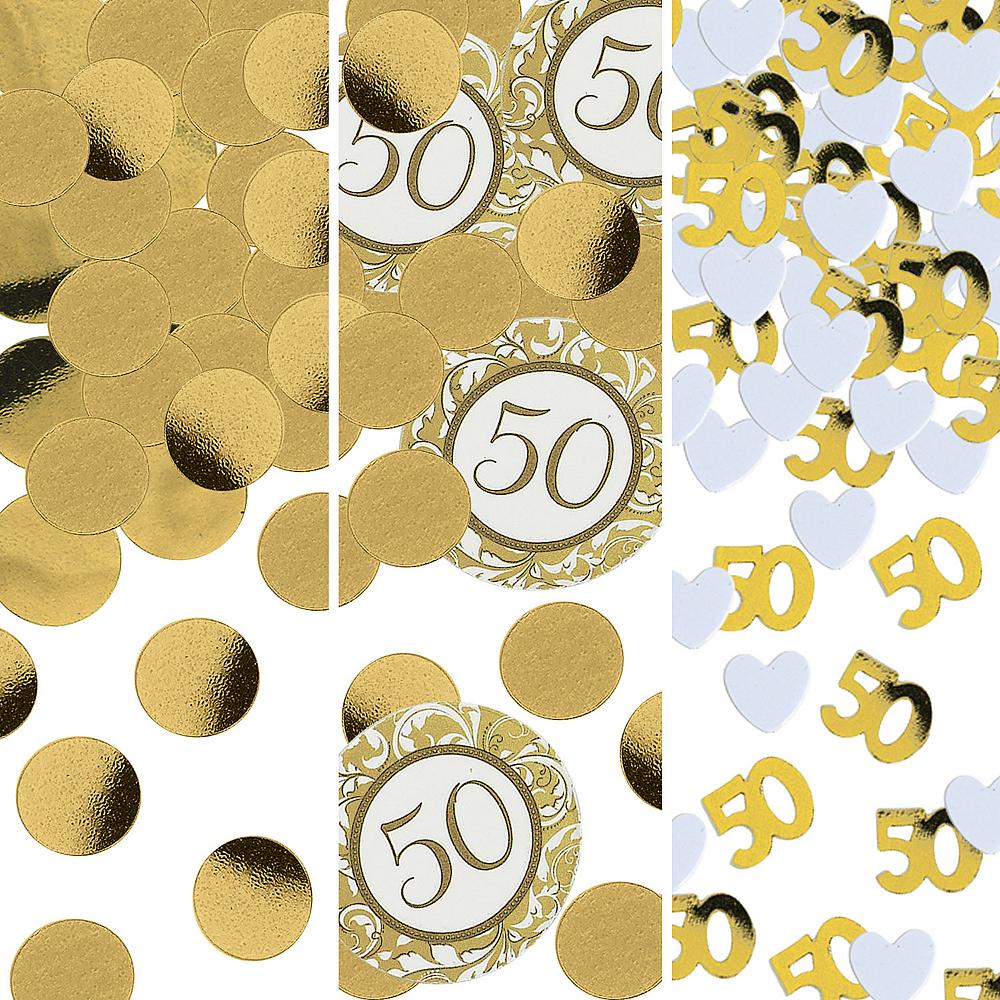 Golden 50th Anniversary Confetti Image #1