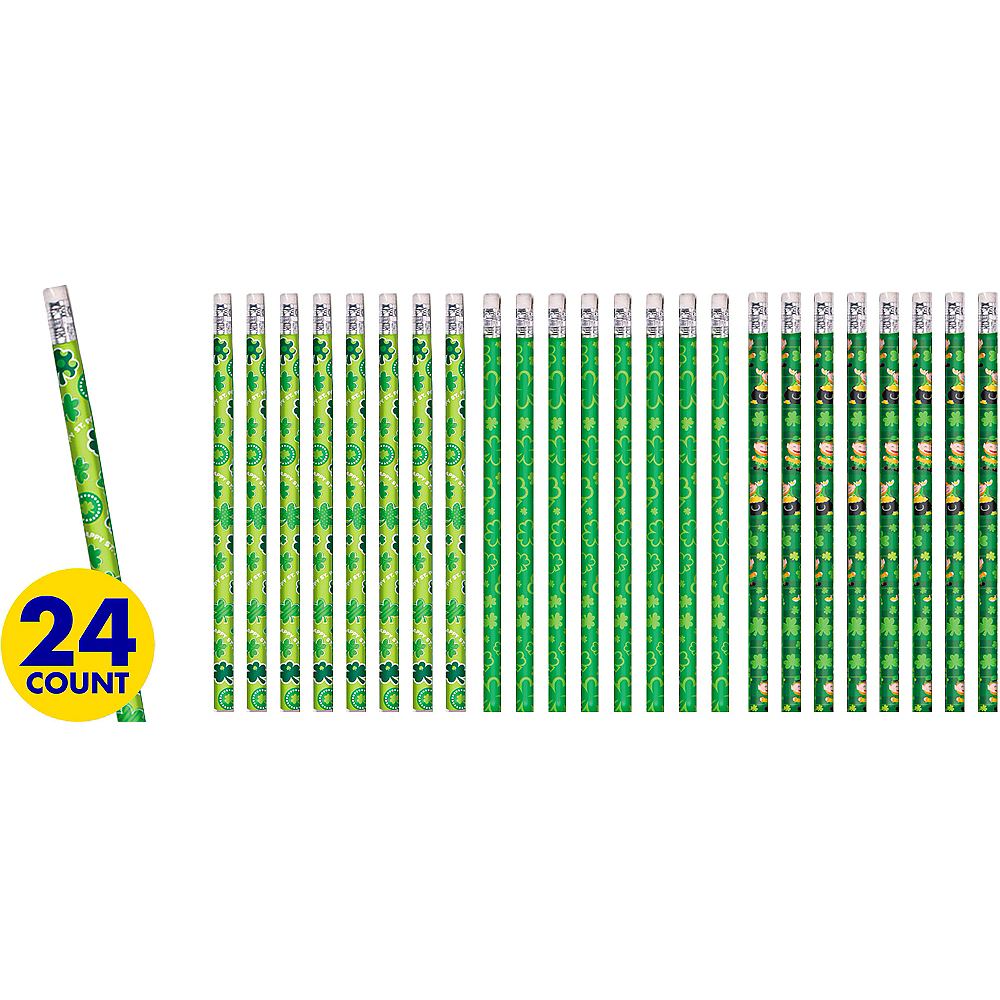 St. Patrick's Day Pencils 24ct Image #1