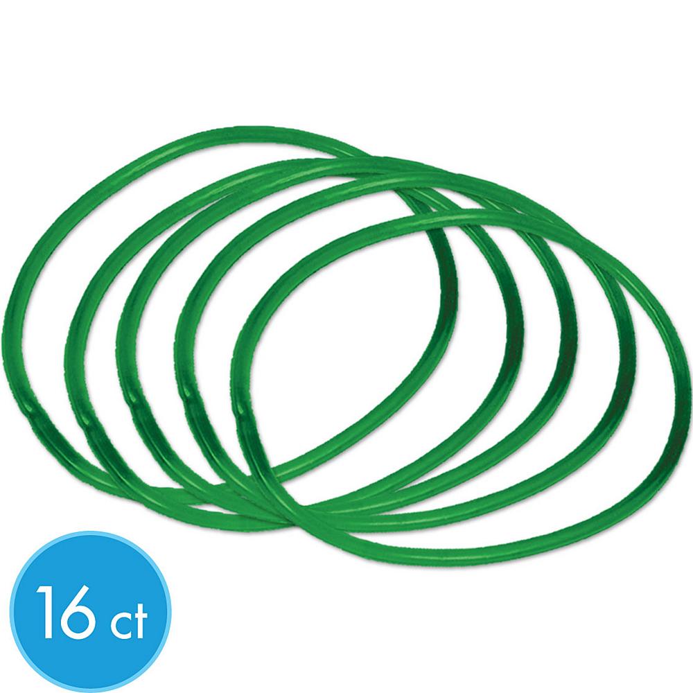 Green Rubber Bracelets 16ct Image #1