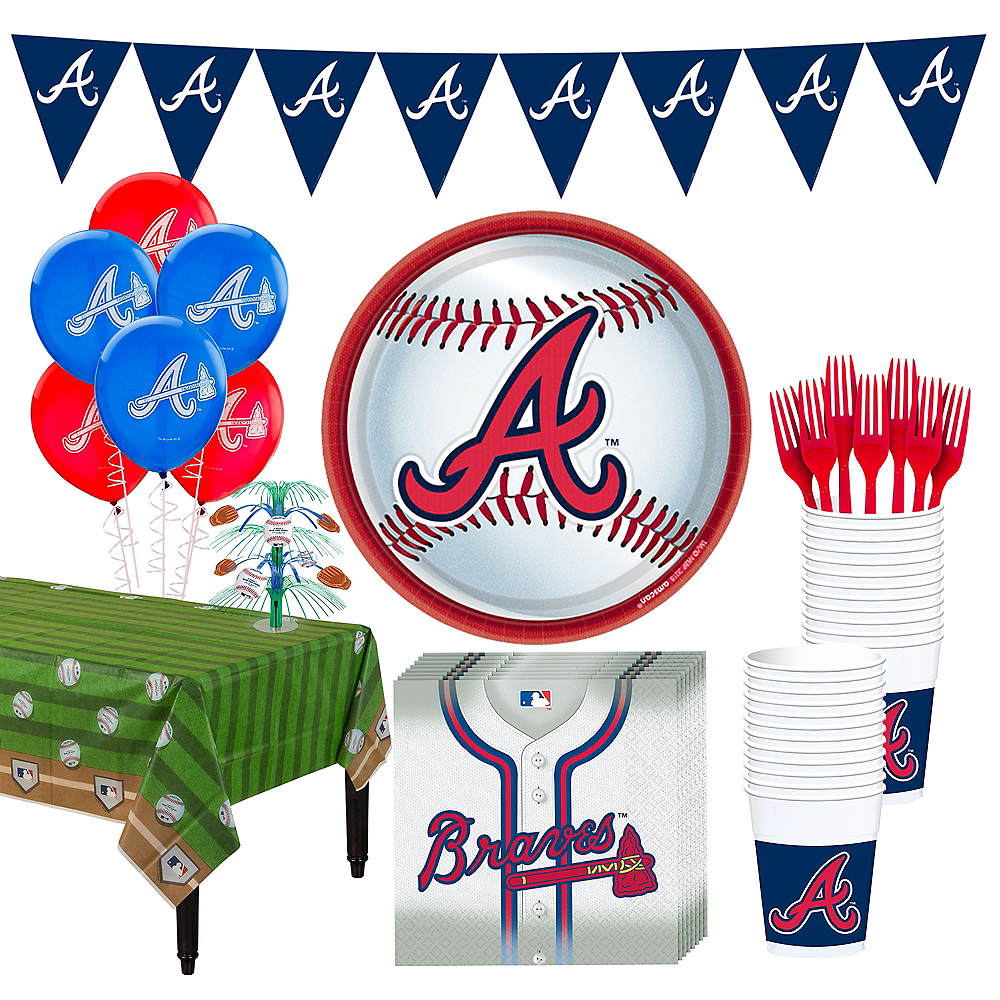 Atlanta Braves Super Party Kit for 18 Guests Image #1