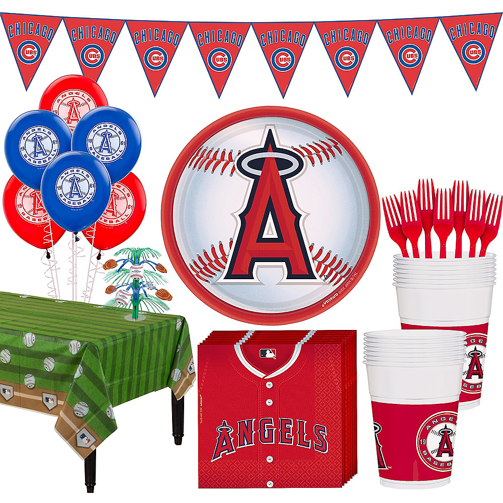 Los Angeles Angels Super Party Kit for 18 Guests Image #1