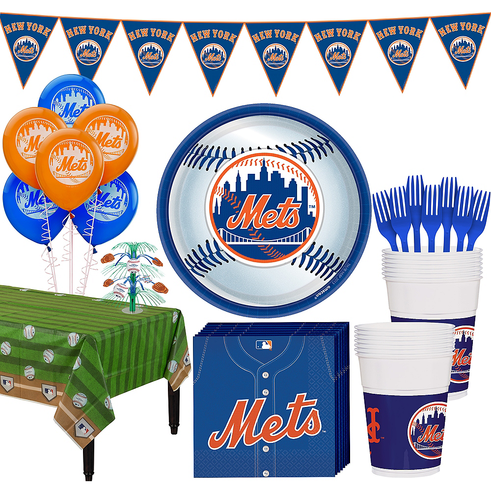 New York Mets Super Party Kit for 18 Guests Image #1
