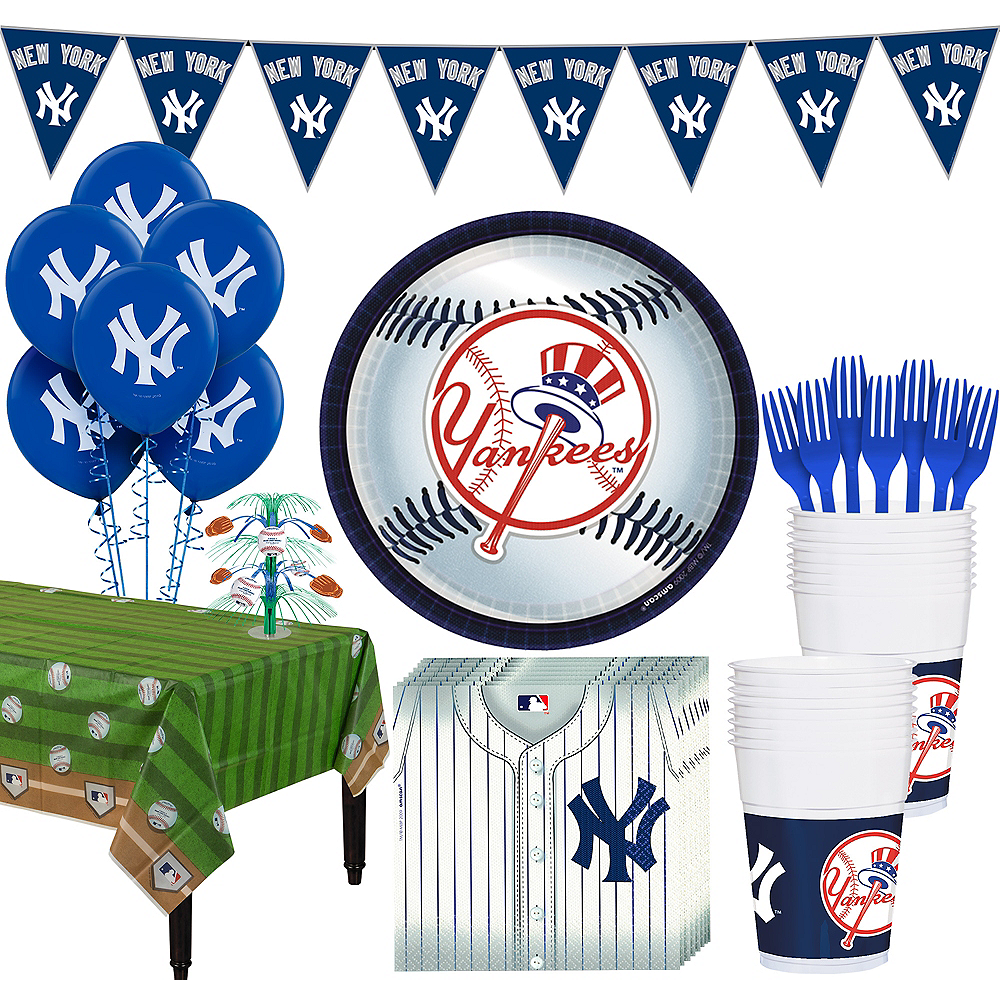 New York Yankees Super Party Kit for 18 Guests Image #1