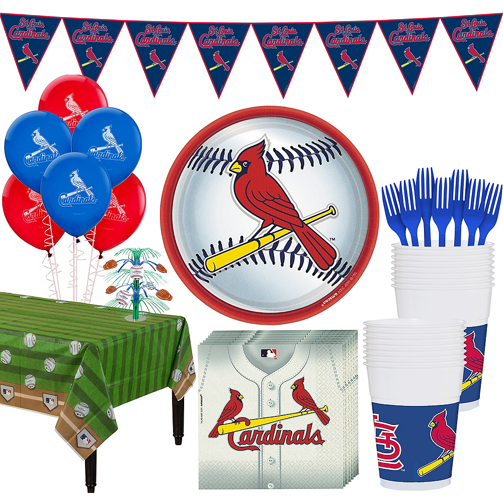 St Louis Cardinals Super Party Kit for 18 Guests Image #1
