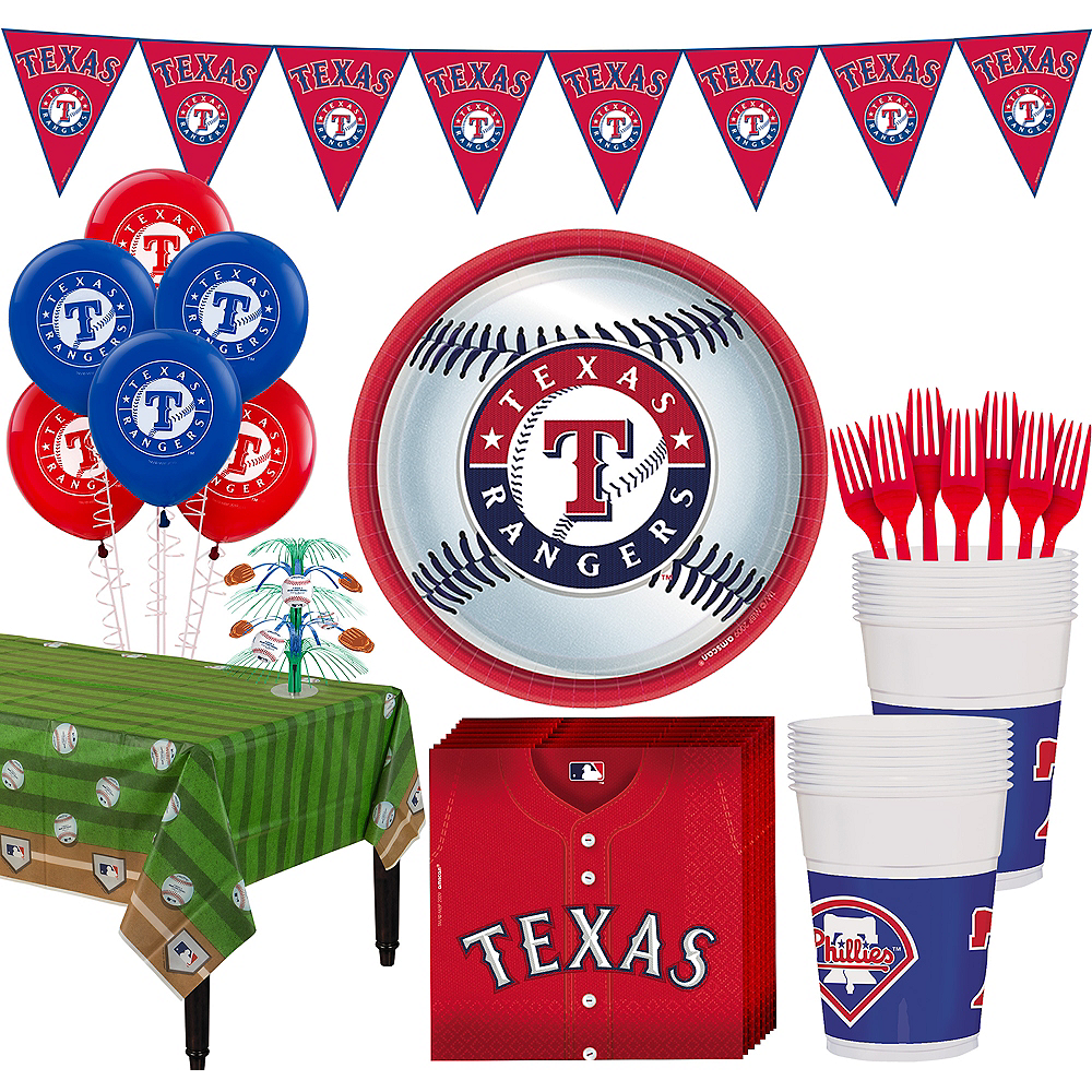 Texas Rangers Super Party Kit for 18 Guests Image #1