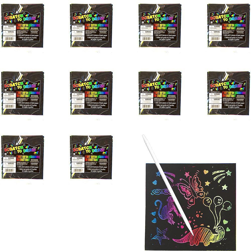 Scratch Art Sheets 24ct Image #1