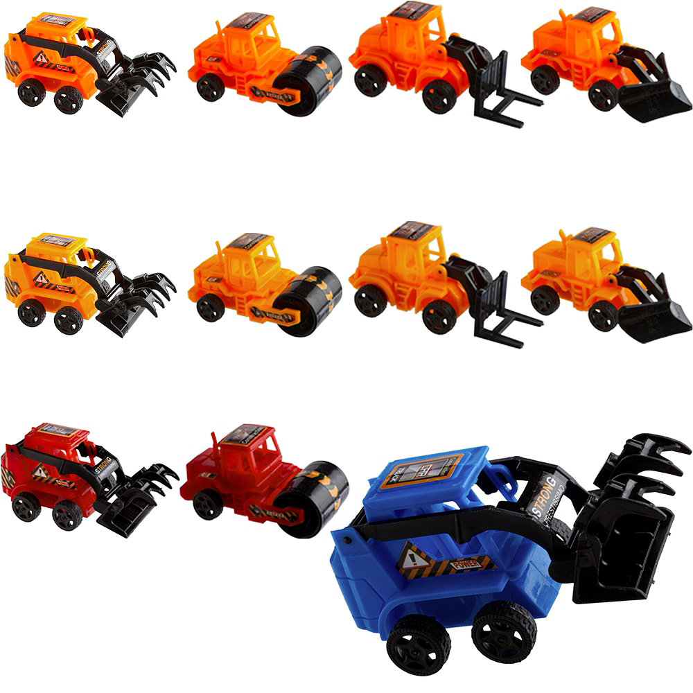 Pull Back Construction Vehicles 24ct Image #1