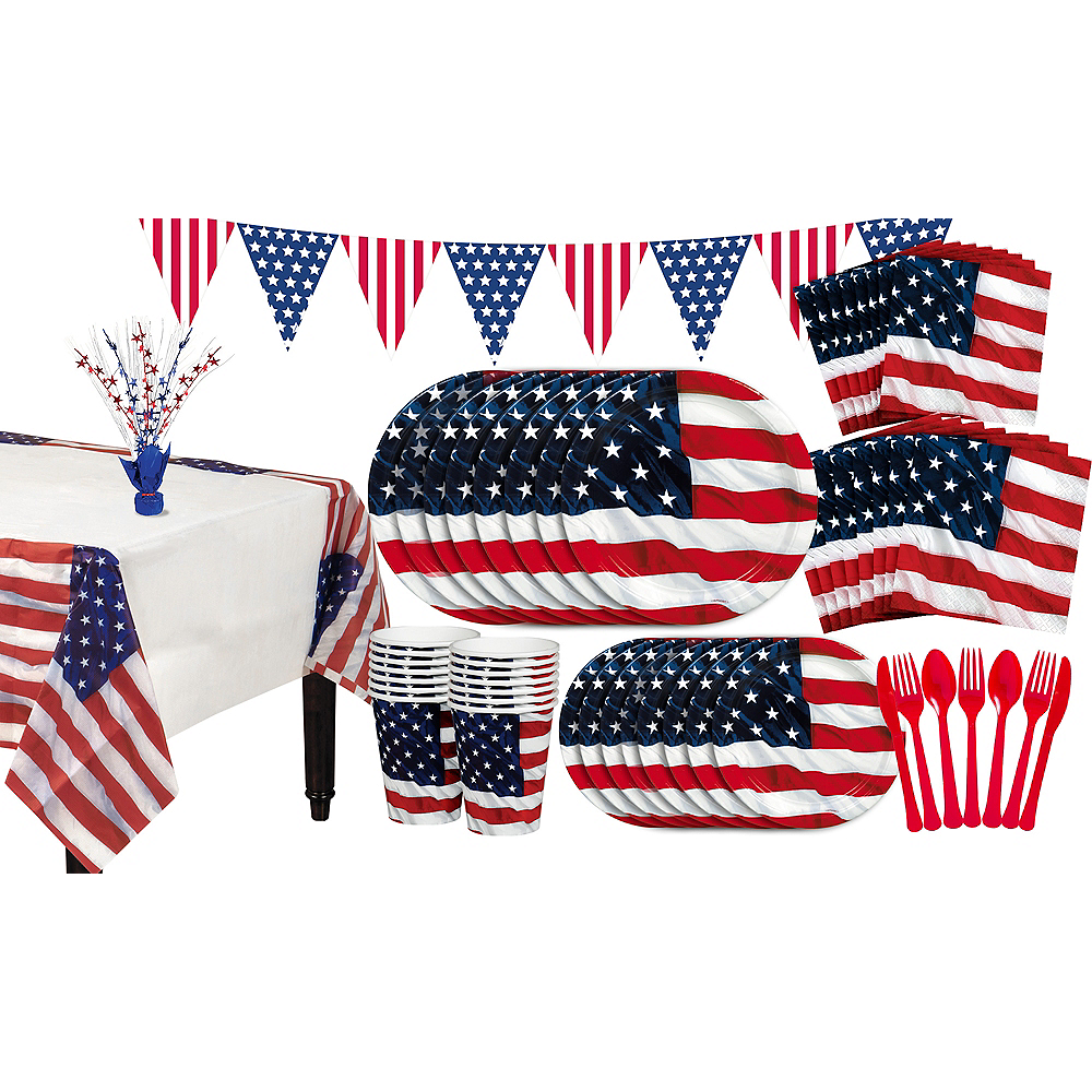 Flying Colors American Flag Party Pack for 16 Guests Image #1