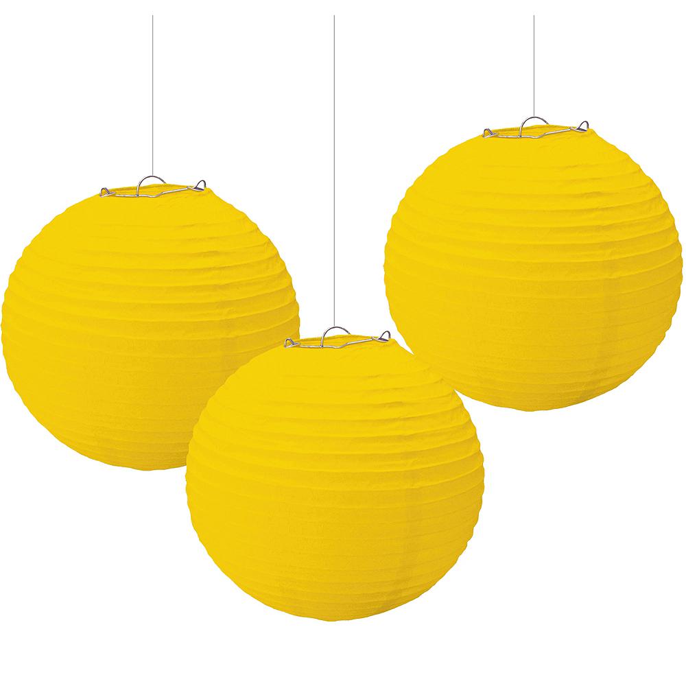 Sunshine Yellow Paper Lanterns 3ct Image #1