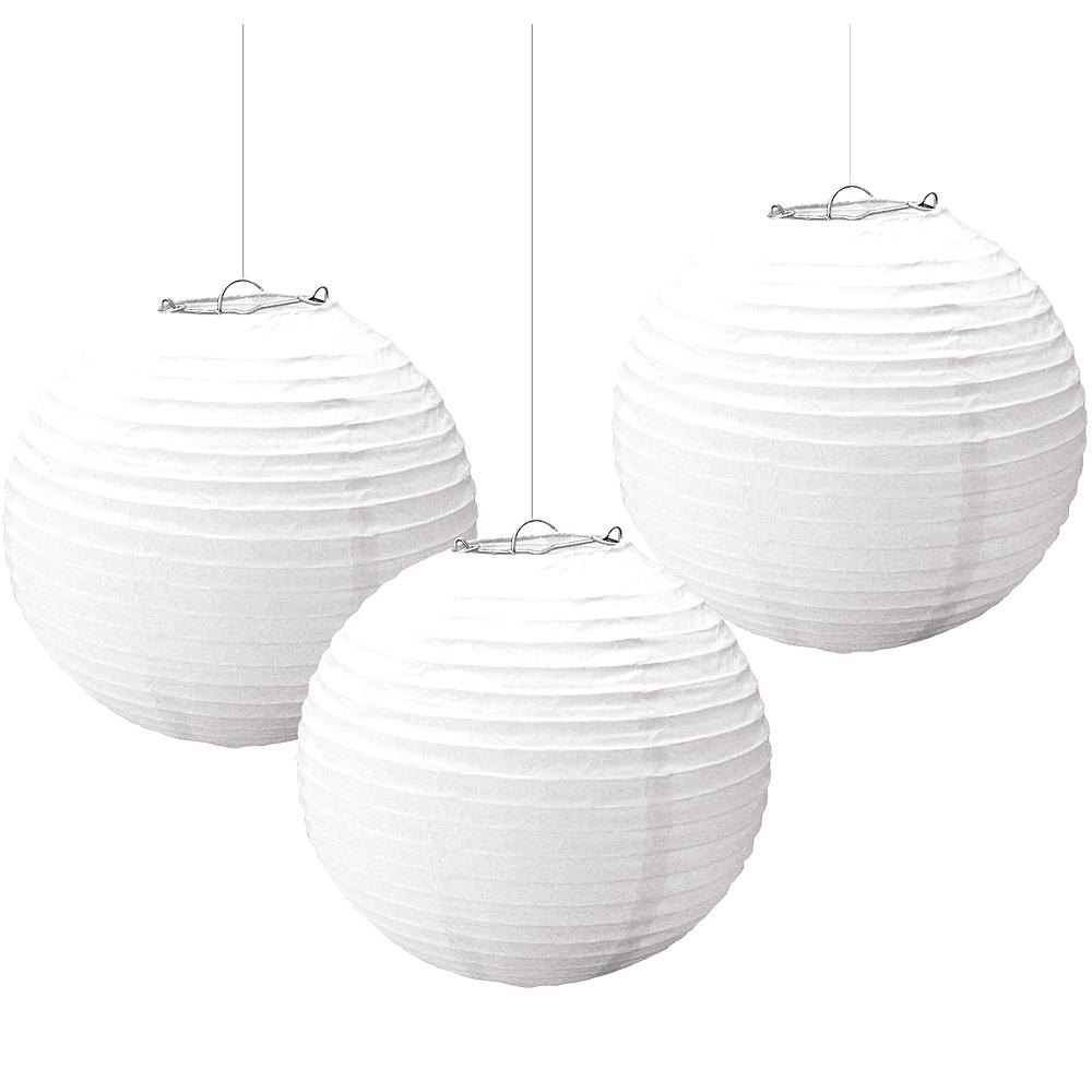 White Paper Lanterns 3ct Image #1