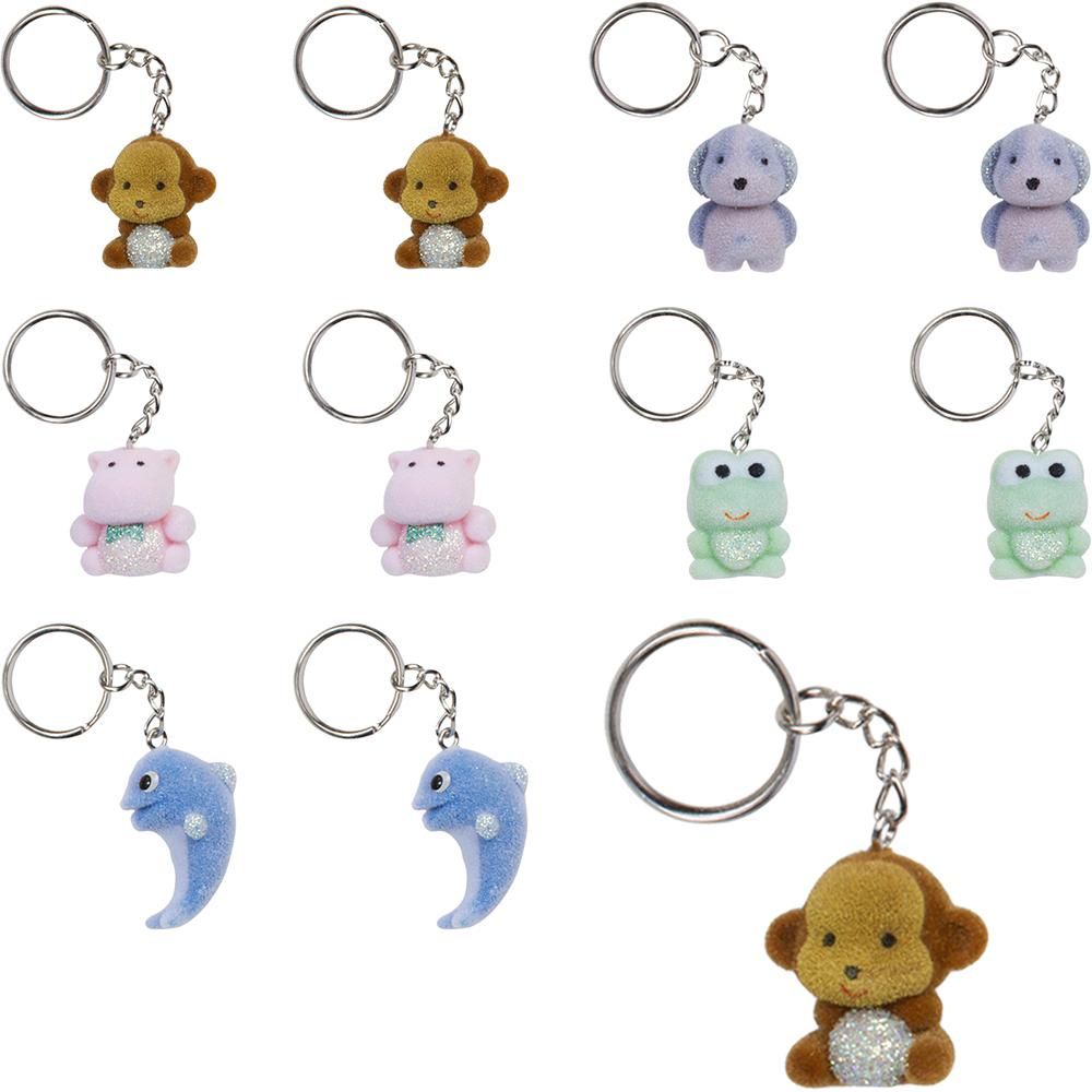 Fuzzy Animal Keychains 24ct Image #1