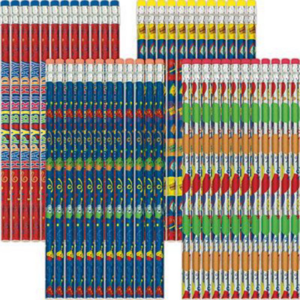 Metallic Happy Birthday Pencils 72ct Image #2