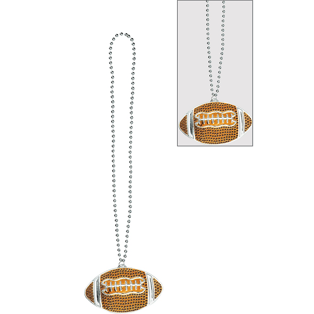 Football Pendant Bead Necklace Image #1