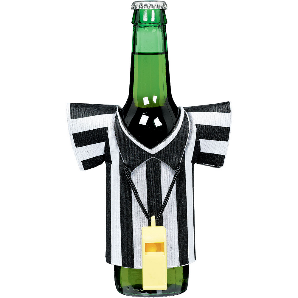 Referee Shirt Jersey Bottle Coozie Image #1