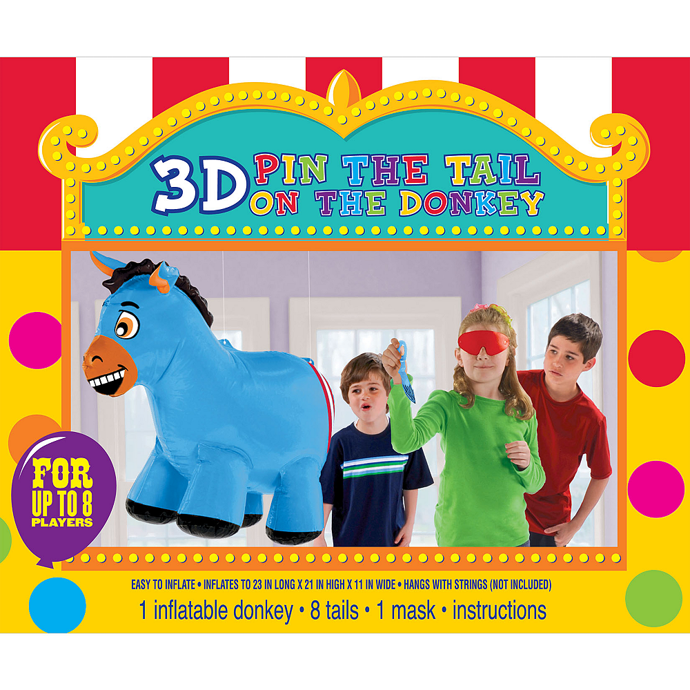 Inflatable Pin the Tail on the Donkey Game Image #1