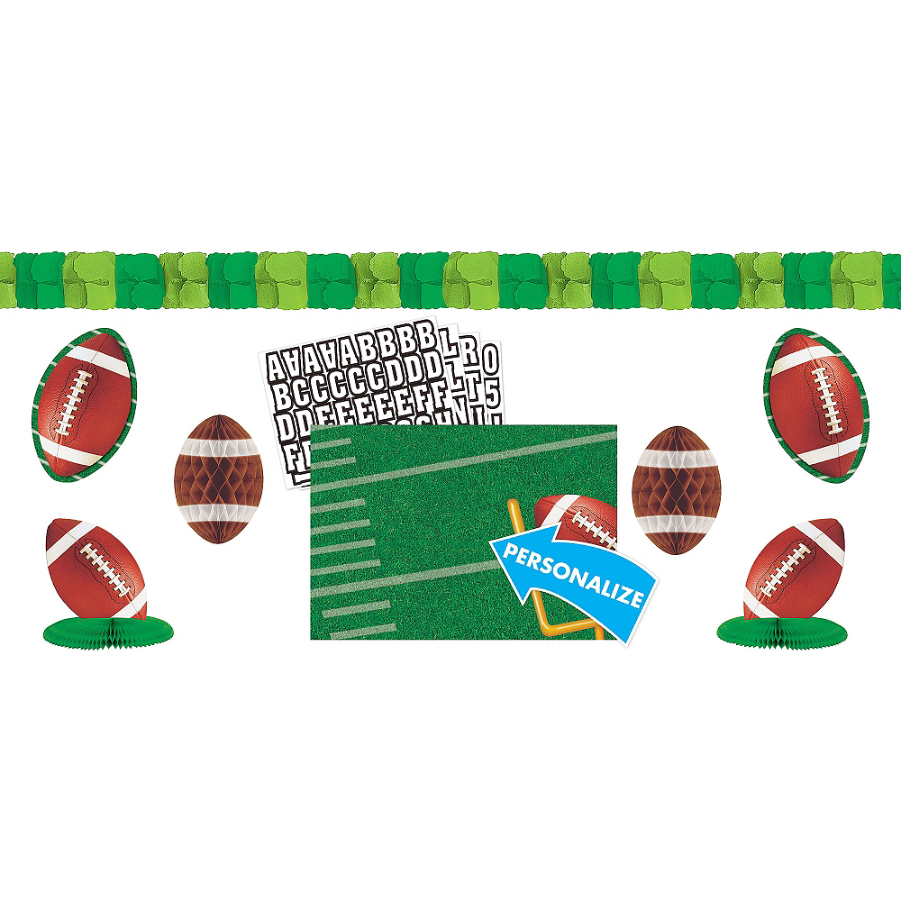 Football Personalized Room Decorating Kit 8pc Image #1