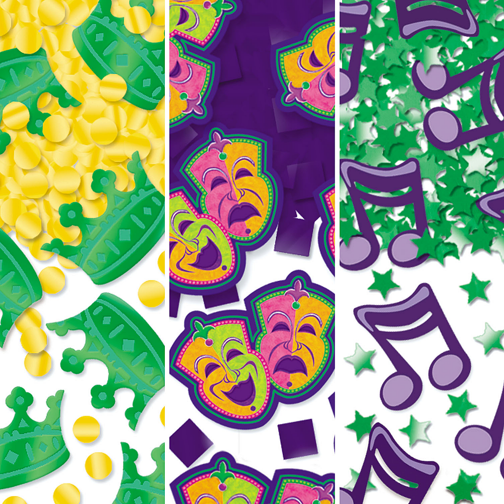 Mardi Gras Confetti 3pk Image #1