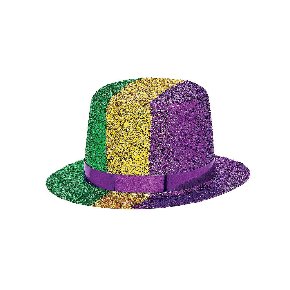 Mini Mardi Gras Top Hat Image #2