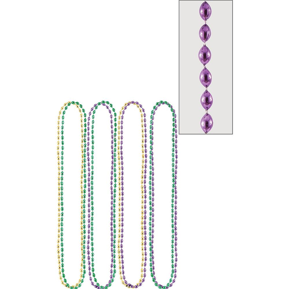 Mardi Gras Bead Necklaces 8ct Image #1