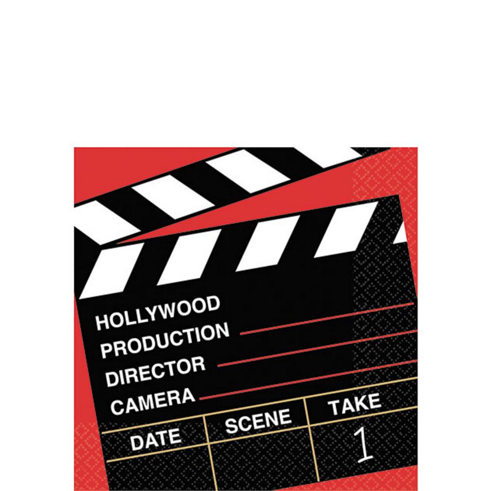 Clapboard Hollywood Beverage Napkins 36ct Image #1
