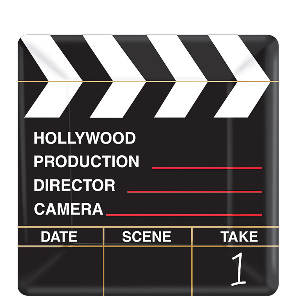Clapboard Hollywood Dessert Plates 18ct Image #1