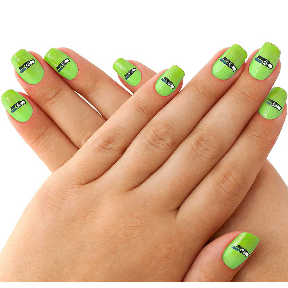 Seattle Seahawks Nail Tattoos 20ct Image #1