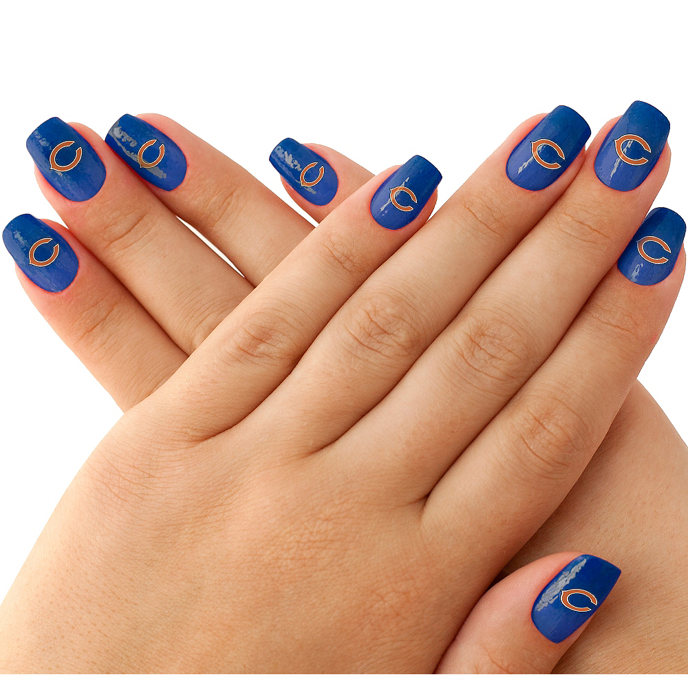 Chicago Bears Nail Tattoos 20ct Image #1