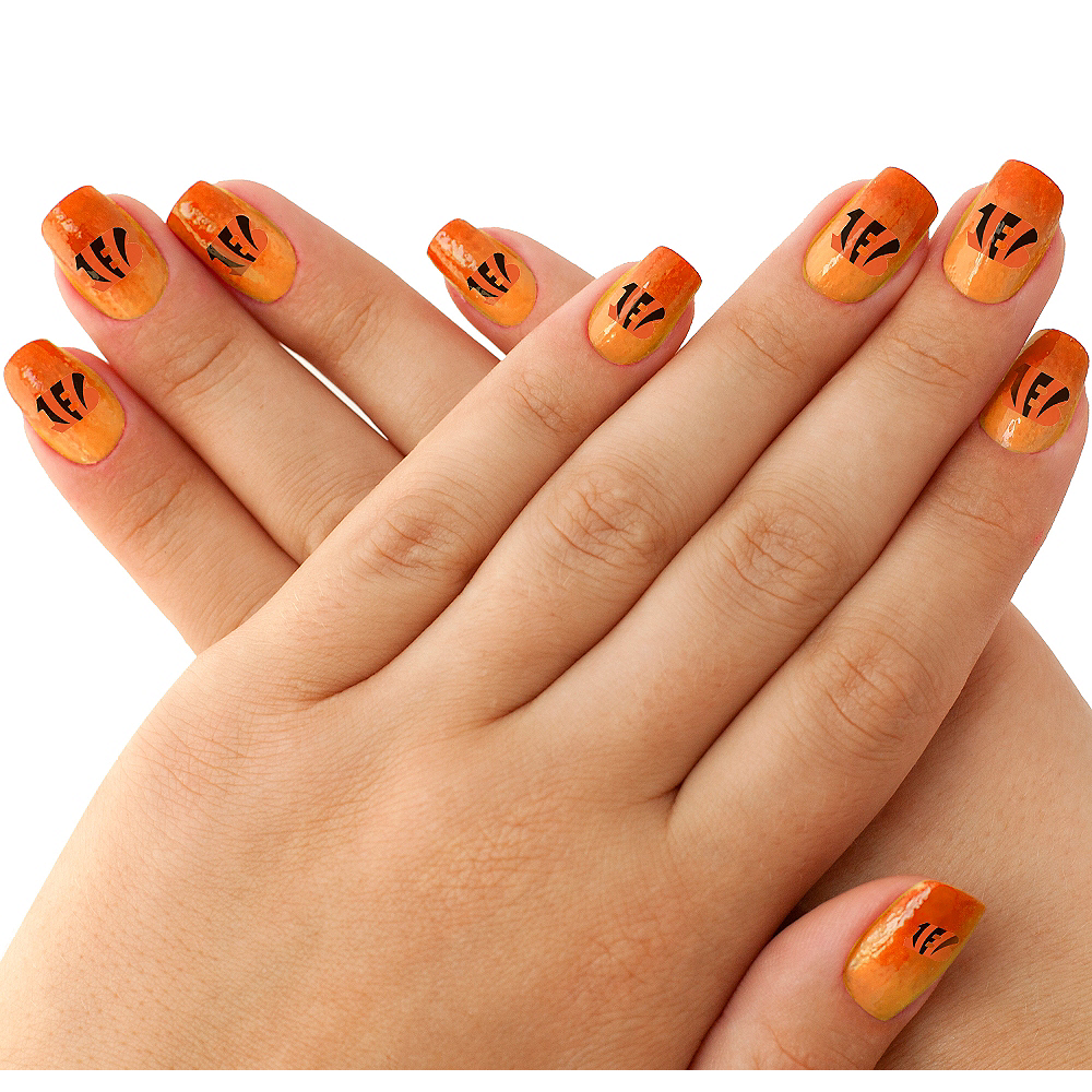 Cincinnati Bengals Nail Tattoos 20ct Image #1