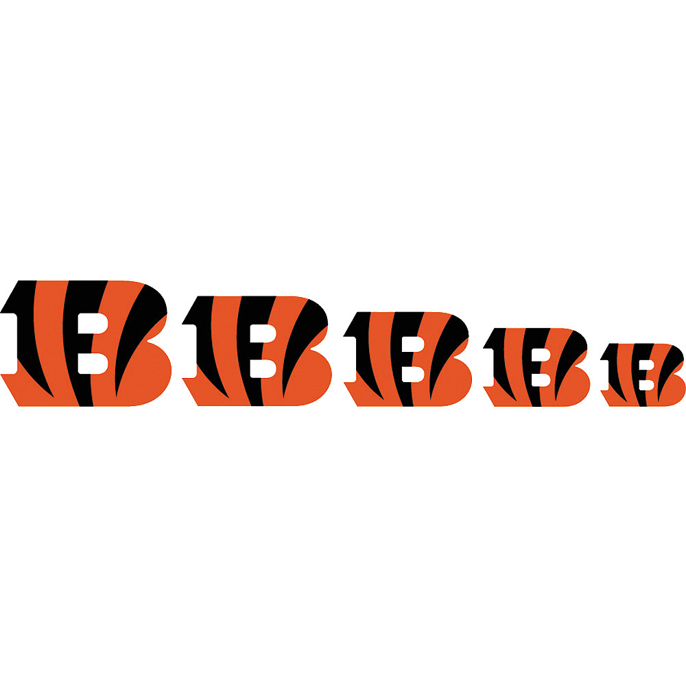 Cincinnati Bengals Nail Tattoos 20ct Image #2