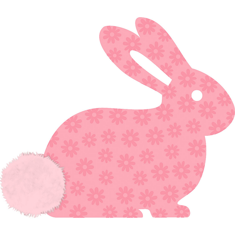Nav Item for Pink Marabou Bunny Cutout Image #1