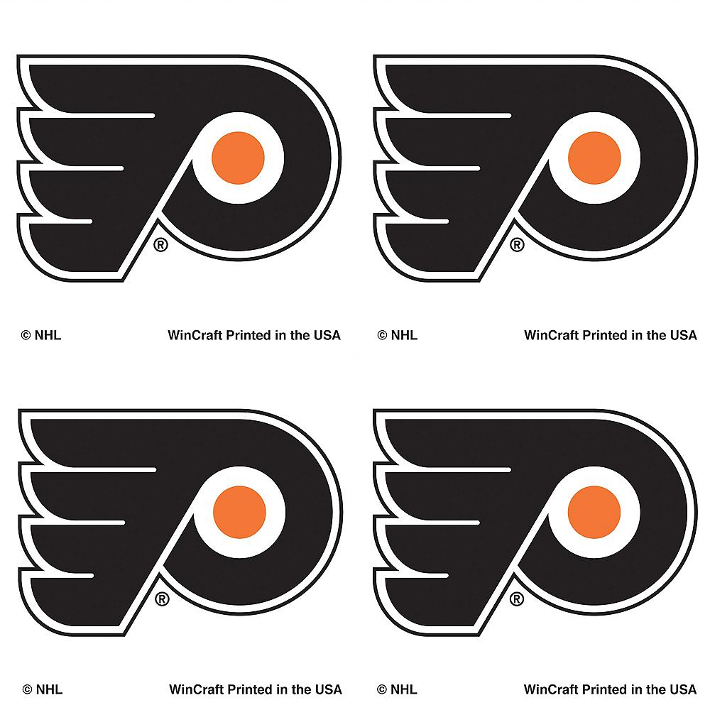 Philadelphia Flyers Face Tattoos 4ct Image #1