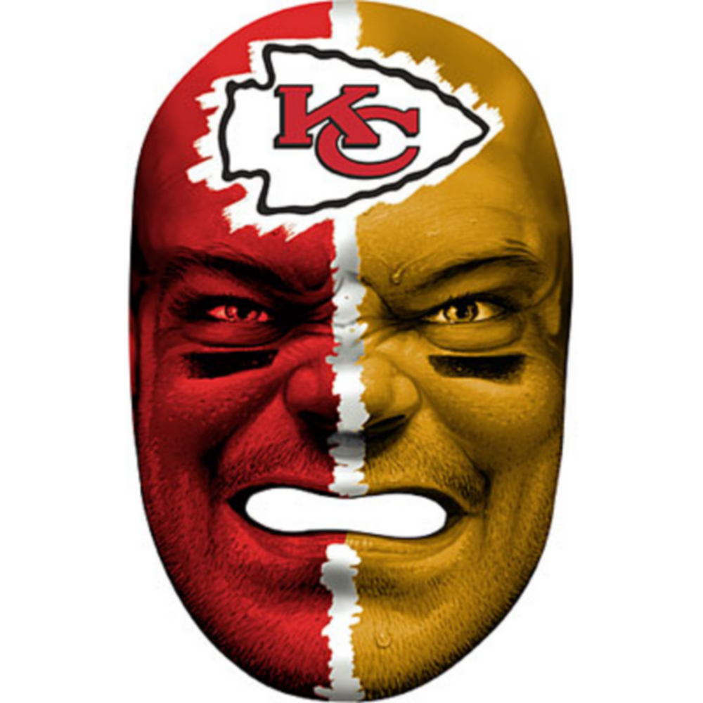 Kansas City Chiefs Fan Face Mask Image #1