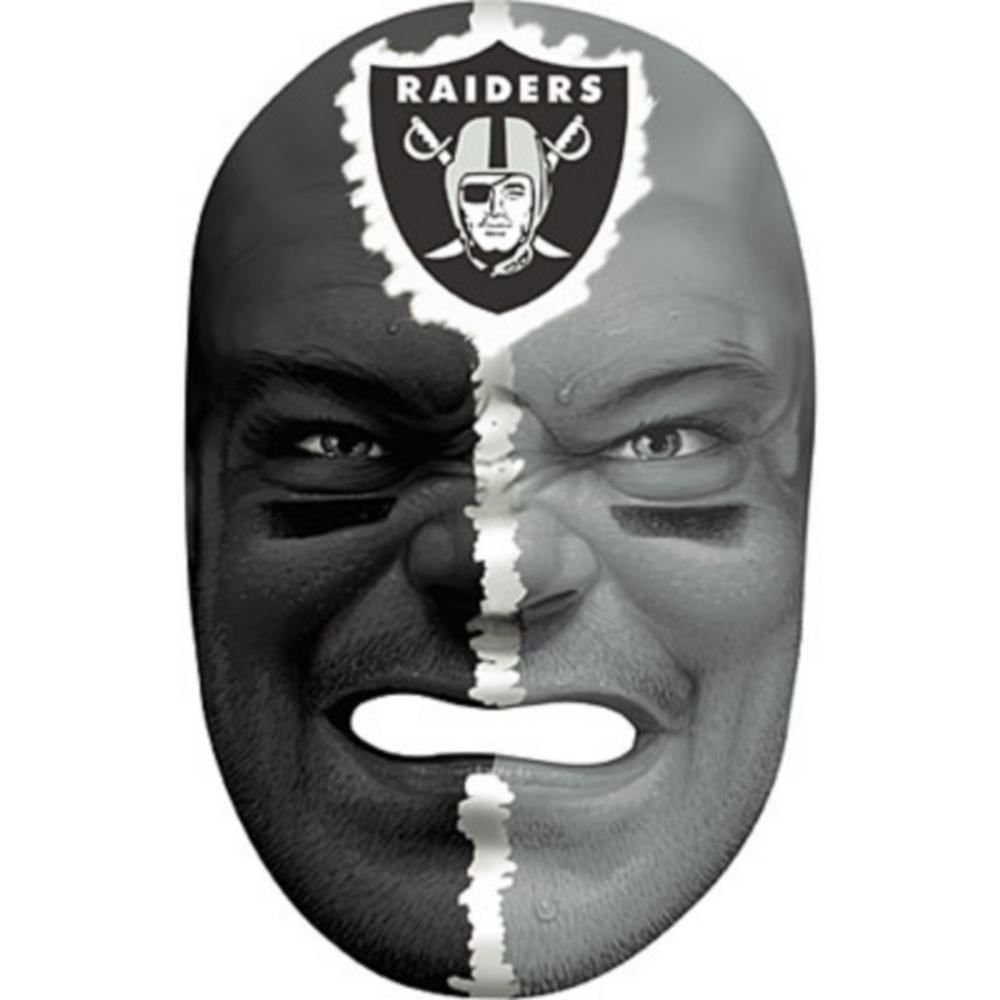 Oakland Raiders Fan Face Mask Image #1