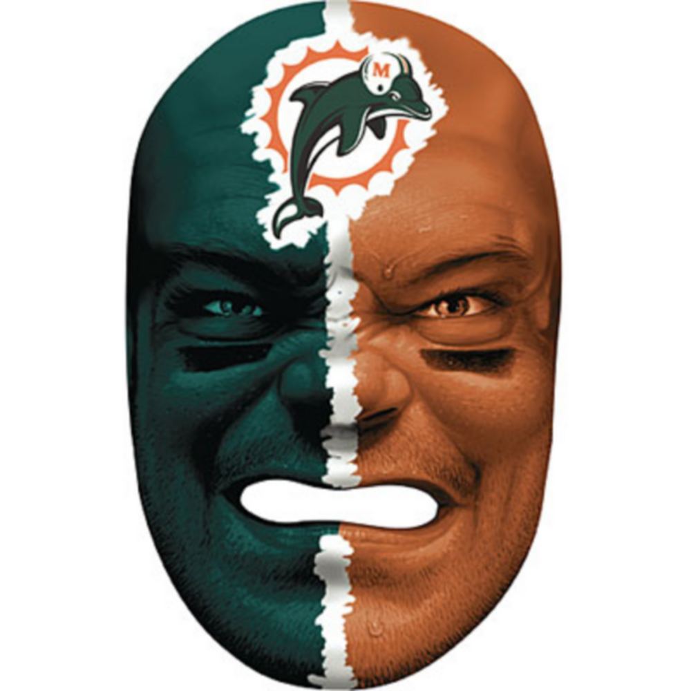 Miami Dolphins Fan Face Mask Image #1