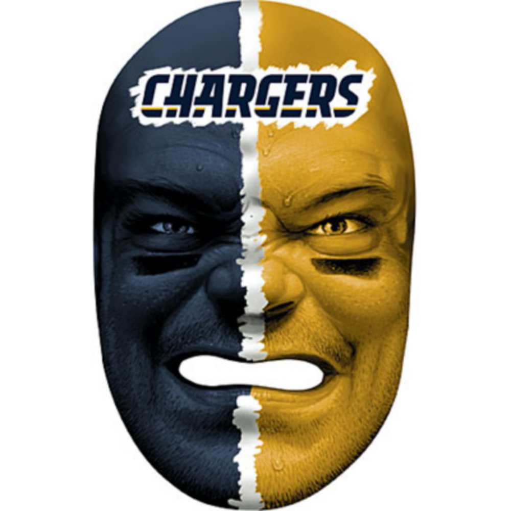 Los Angeles Chargers Fan Face Mask Image #1