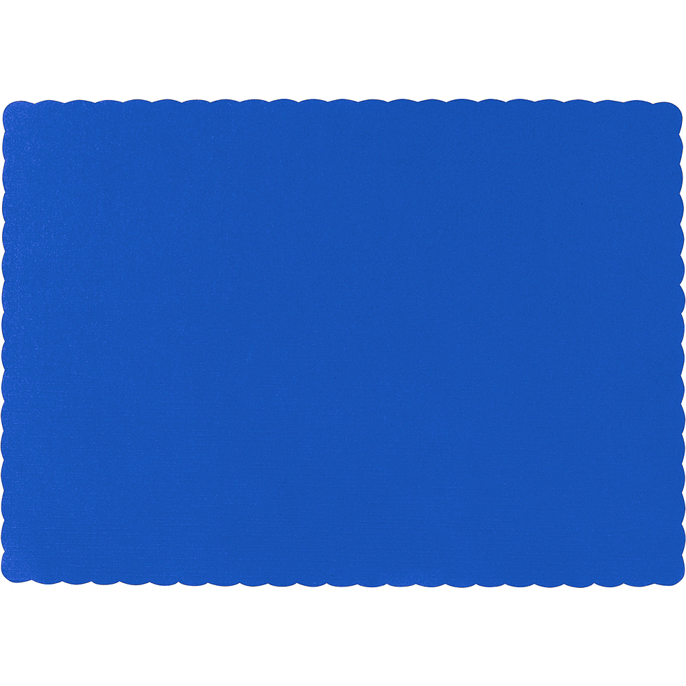 Big Party Pack Royal Blue Paper Placemats 50ct Image #1