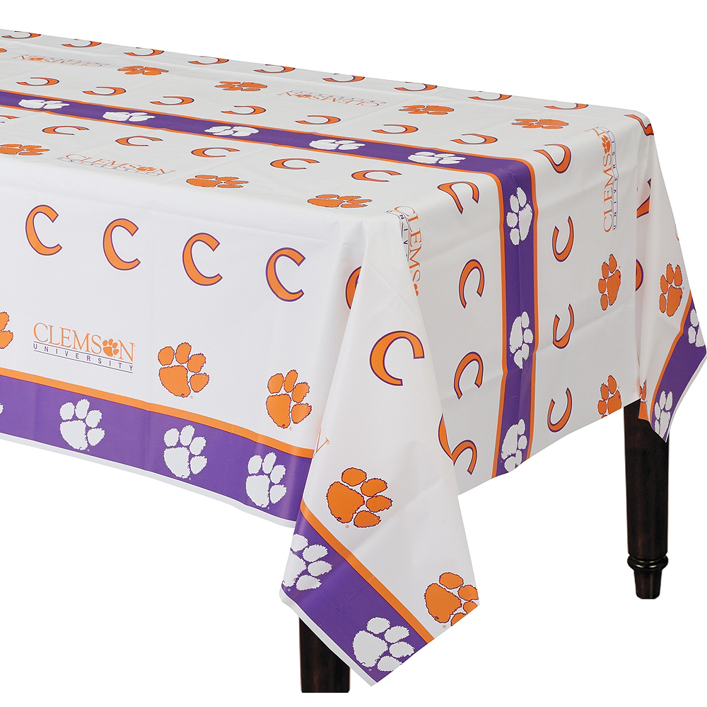 Clemson Tigers Plastic Table Cover Image #1