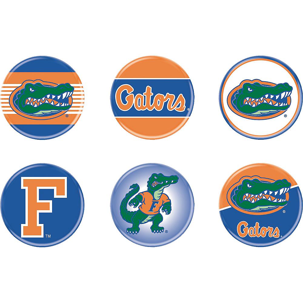 Florida Gators Buttons 6ct Party City