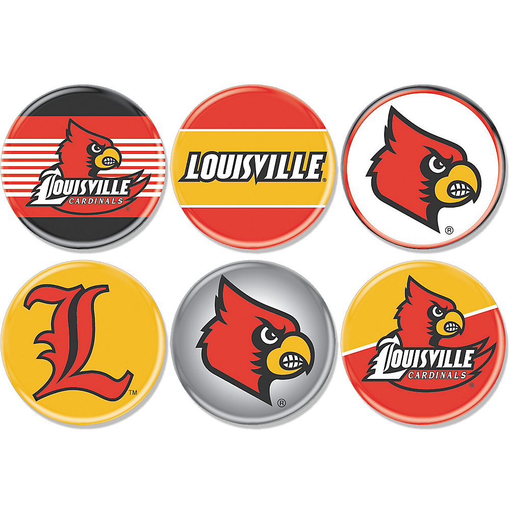 Louisville Cardinals Buttons 6ct Image #1