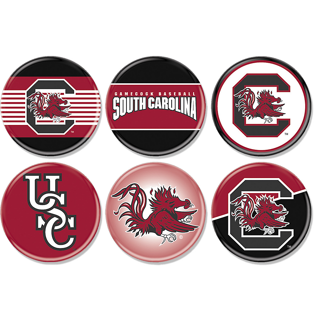 South Carolina Gamecocks Buttons 6ct Image #1