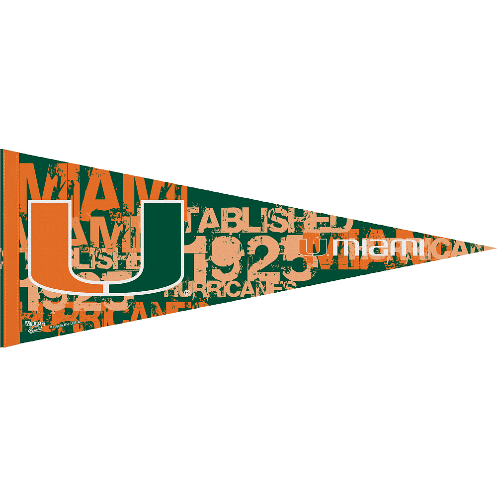 Miami Hurricanes Pennant Flag Image #1