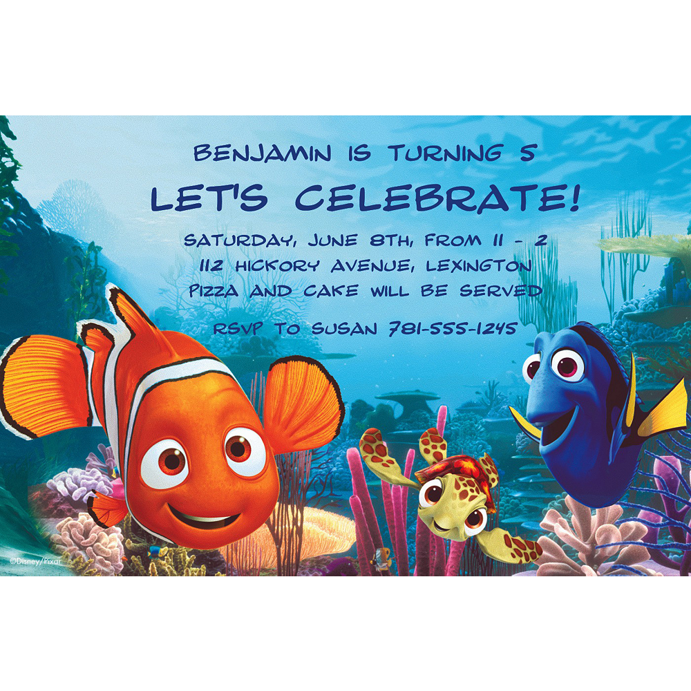 Custom Nemo & Friends Invitations Image #1