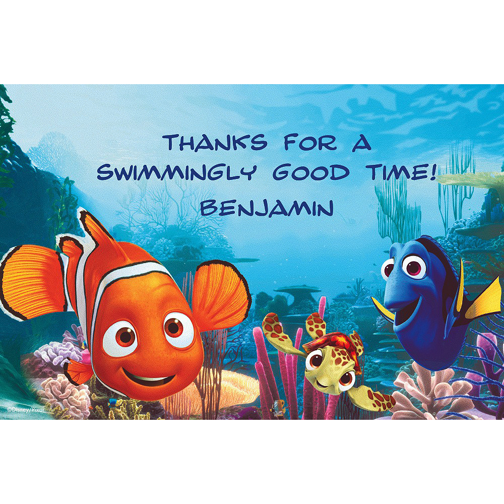 Custom Nemo & Friends Thank You Notes Image #1