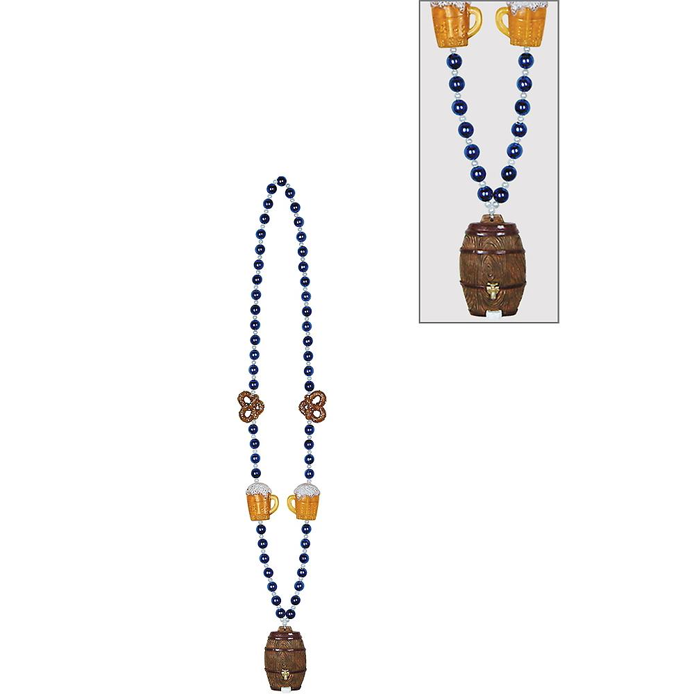 Oktoberfest Pretzels & Keg Pendant Bead Necklace Image #1