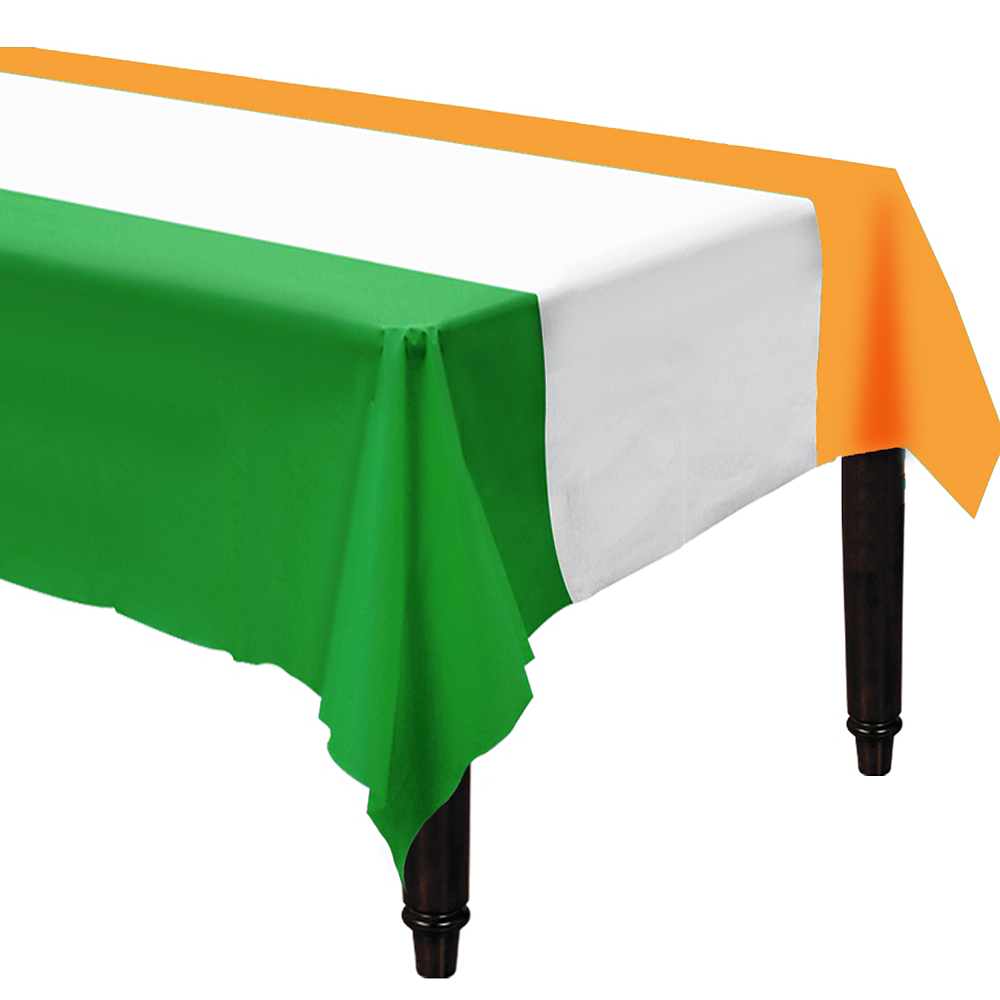 Green, White & Orange Table Cover Image #1