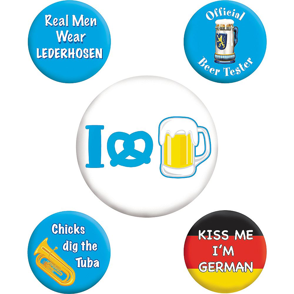 Oktoberfest Buttons 5ct Image #1
