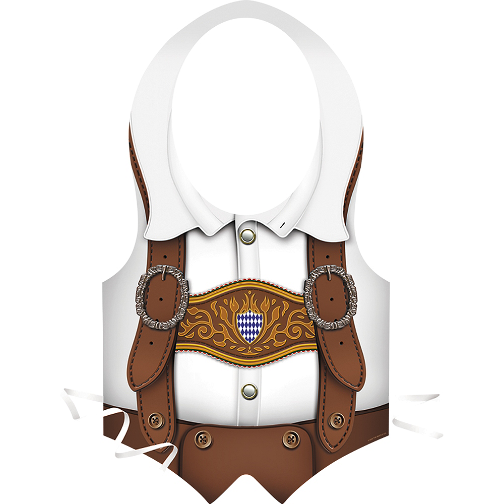 Oktoberfest Lederhosen Vest Image #1