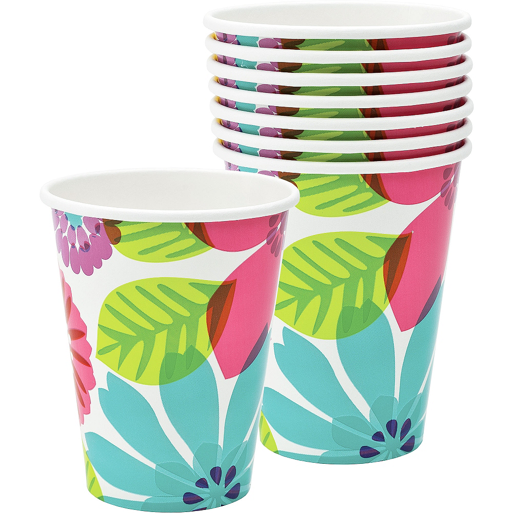 Day in Paradise Cups 8ct Image #1