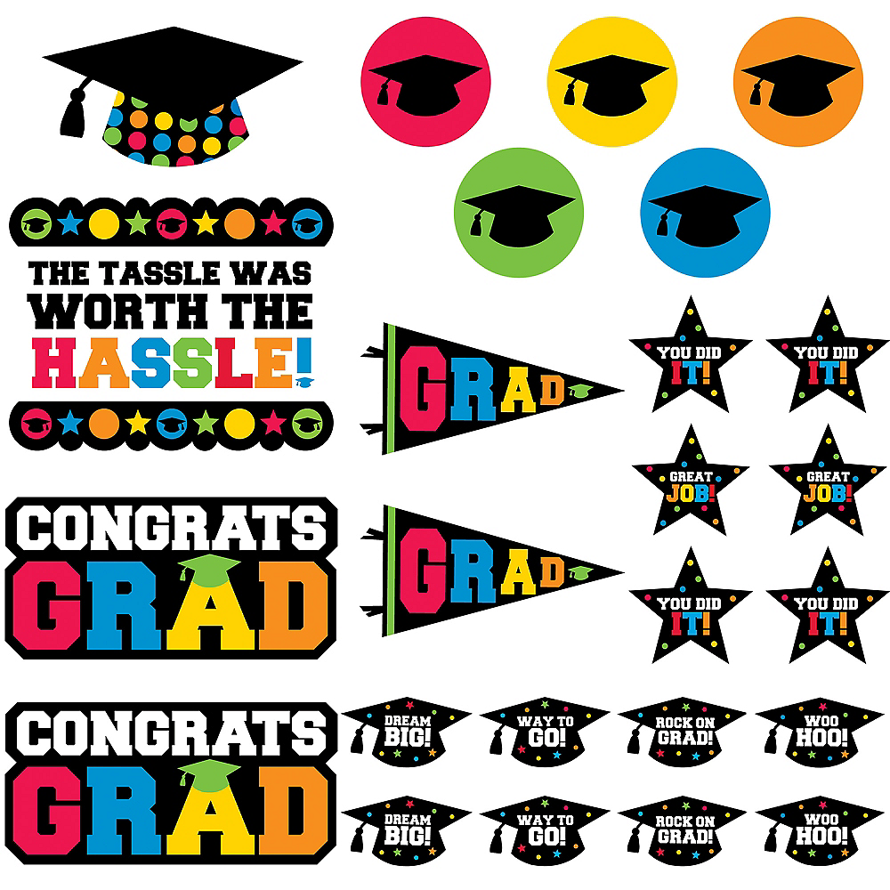 Nav Item for Multicolor Graduation Cutouts 30ct Image #1