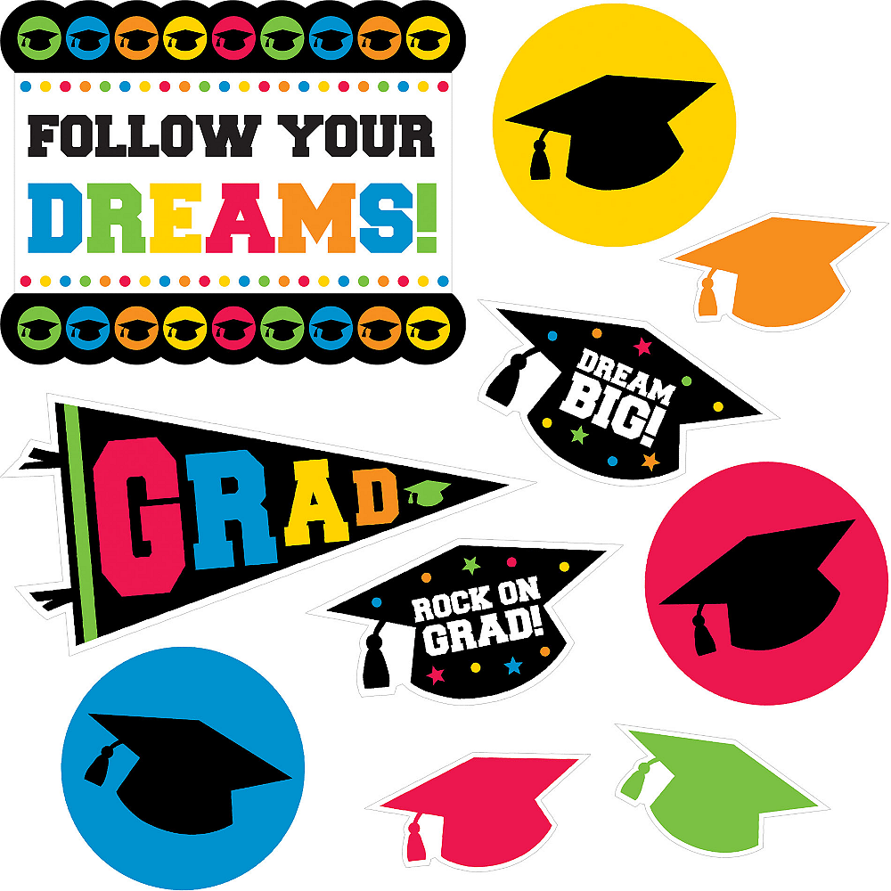 Nav Item for Multicolor Graduation Cutouts 30ct Image #2